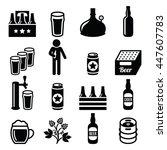 beer  brewery craft beer   pub... | Shutterstock .eps vector #447607783