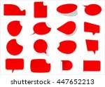 ribbon vector icon set red... | Shutterstock .eps vector #447652213