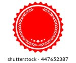 ribbon vector icon red color on ... | Shutterstock .eps vector #447652387