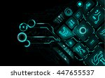 abstract technology background  ... | Shutterstock .eps vector #447655537