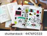 youth social media technology... | Shutterstock . vector #447692533