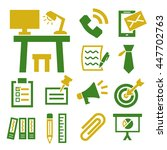 office collection icon set