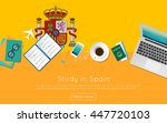 study in spain concept for your ...   Shutterstock .eps vector #447720103