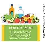 healthy food concept banner... | Shutterstock . vector #447724417