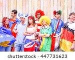 group of international football ... | Shutterstock . vector #447731623