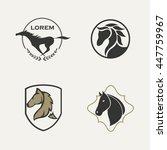 horse logo set | Shutterstock .eps vector #447759967