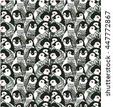 vector seamless pattern cute... | Shutterstock .eps vector #447772867