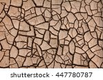 in dry season cracked  ground . | Shutterstock . vector #447780787