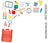 back to school background with... | Shutterstock .eps vector #447782353