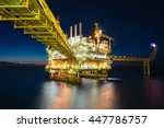 oil and gas central processing... | Shutterstock . vector #447786757