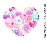pink and purple watercolor... | Shutterstock . vector #447795553