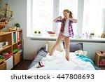 energetic dancing | Shutterstock . vector #447808693