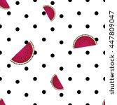watermelon texture pattern... | Shutterstock .eps vector #447809047
