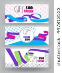 set of gift vouchers with... | Shutterstock .eps vector #447813523