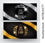 vip cards with gold and silver... | Shutterstock .eps vector #447814177