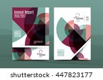 annual report a4 page cover ... | Shutterstock .eps vector #447823177