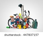 sports equipment has fallen... | Shutterstock . vector #447837157