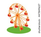classical retro ferris wheel on ... | Shutterstock .eps vector #447849637