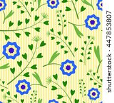 cute seamless pattern with... | Shutterstock .eps vector #447853807