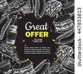 fast food special offer on... | Shutterstock . vector #447853813