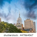 amazing aerial view of new york ... | Shutterstock . vector #447864067