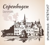 egeskov castle  denmark....   Shutterstock .eps vector #447874147