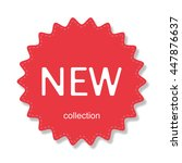 sticker new collection with... | Shutterstock .eps vector #447876637