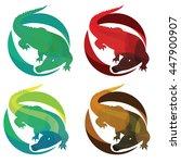 set of crocodile vector... | Shutterstock .eps vector #447900907