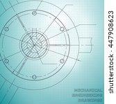 mechanical engineering drawings.... | Shutterstock .eps vector #447908623