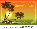 exotic landscape  tropical... | Shutterstock .eps vector #447917353