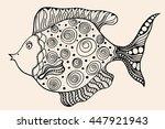 ornamental graphic fish. vector ... | Shutterstock .eps vector #447921943