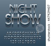 set of slim reflective alphabet ...   Shutterstock .eps vector #447929407