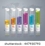 graph infographic design vector ... | Shutterstock .eps vector #447930793