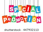 vector colorful hanging... | Shutterstock .eps vector #447932113