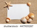 empty white card with exotic... | Shutterstock . vector #447935287