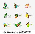 geometric abstract nature logo. ... | Shutterstock .eps vector #447949723