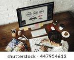 ideas creative occupation... | Shutterstock . vector #447954613