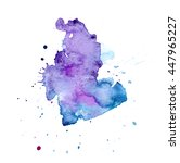 colorful abstract watercolor... | Shutterstock . vector #447965227