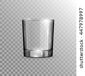 empty drinking glass cup.... | Shutterstock .eps vector #447978997