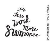 summer card poster  emblem ... | Shutterstock .eps vector #447979663