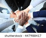 group of business people... | Shutterstock . vector #447988417
