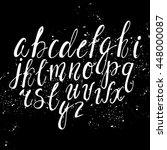 vector hand written alphabet....   Shutterstock .eps vector #448000087