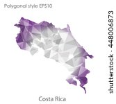 costa rica map in geometric...   Shutterstock .eps vector #448006873