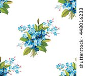 seamless floral pattern with... | Shutterstock .eps vector #448016233