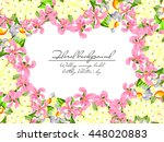 wedding invitation cards with... | Shutterstock .eps vector #448020883