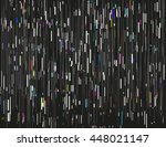 glitched lines and colorful... | Shutterstock .eps vector #448021147