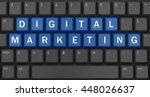 advertising concept  computer... | Shutterstock . vector #448026637