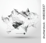 abstract graphic consisting of... | Shutterstock .eps vector #448038337
