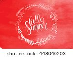 floral wreath with wild flowers ... | Shutterstock .eps vector #448040203