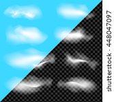 clouds set on transparent... | Shutterstock .eps vector #448047097